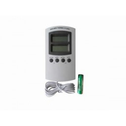 Thermo hygrometer digitaal externe sensor wit
