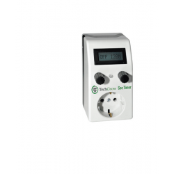 TechGrow Seconde timer met interne licht sensor, 6 A