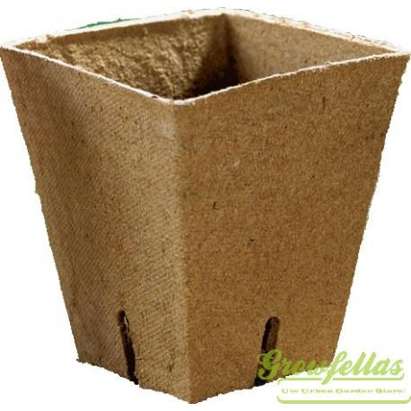 Jiffy pot vierkant 8x8x8cm  p/doos 1200 st